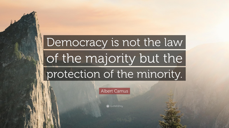 民主主義で大切なことは 他者への思いやりであり 反対意見への寛容さであると説く図