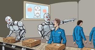 AI ロボットに仕事を奪われた人