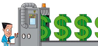 金融緩和政策のイラスト