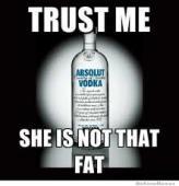アルコールを飲んでも太らないことをアピールするポスター
