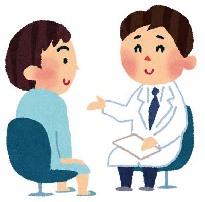 医者が患者さんに説明するシーン