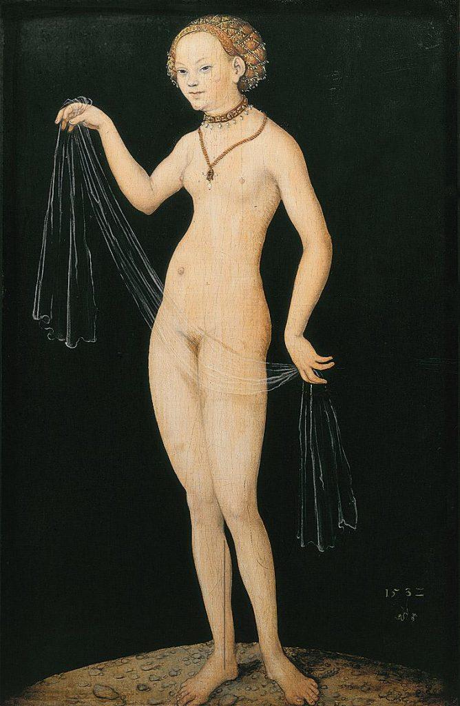 クラーナハが描いた特徴ある裸婦像