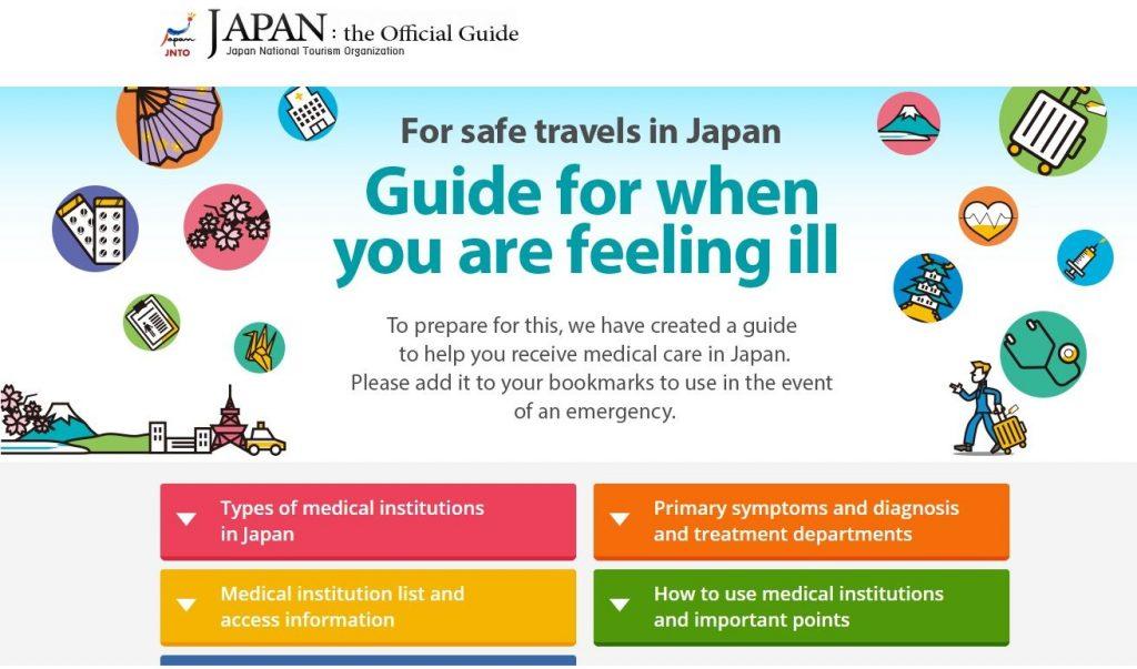 外国人向けの日本の医療機関案内のHP
