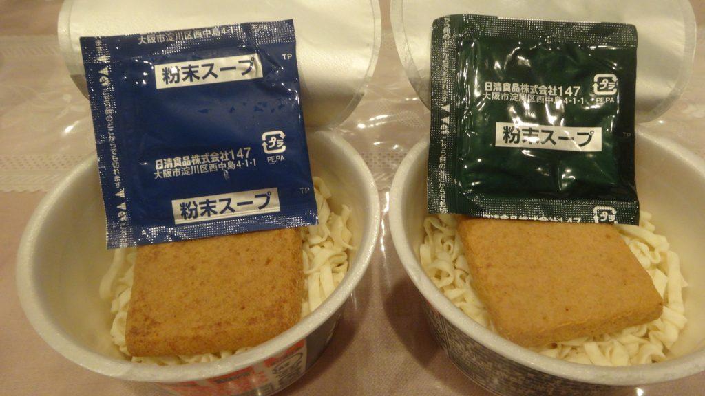 粉末スープの東西比較