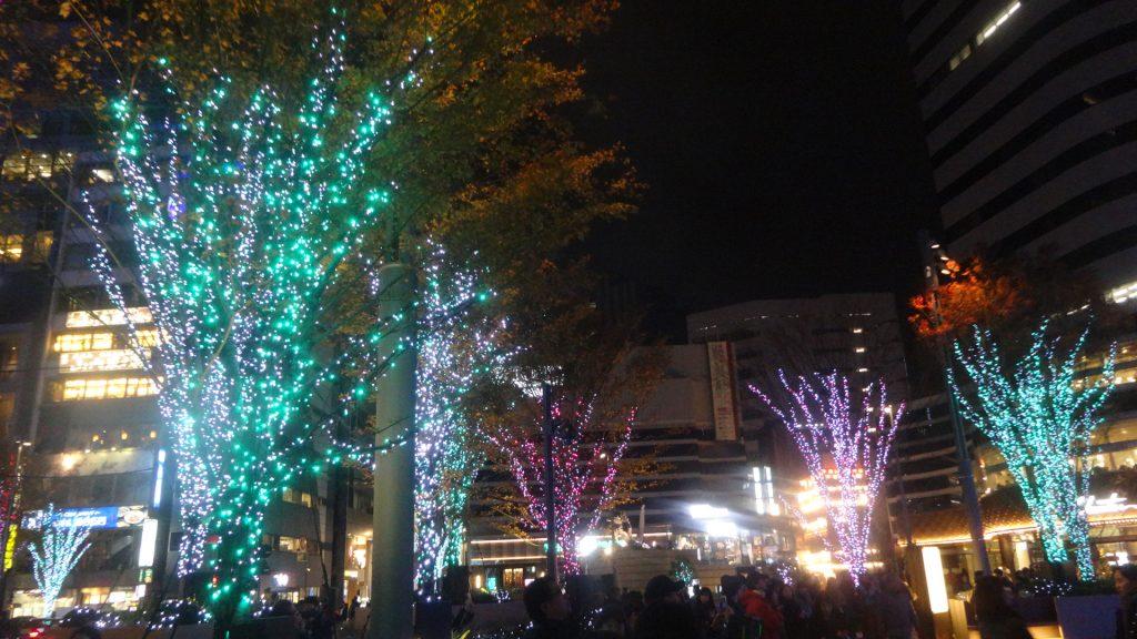 日比谷ミッドタウンのクリスマスイルミネーションの写真1