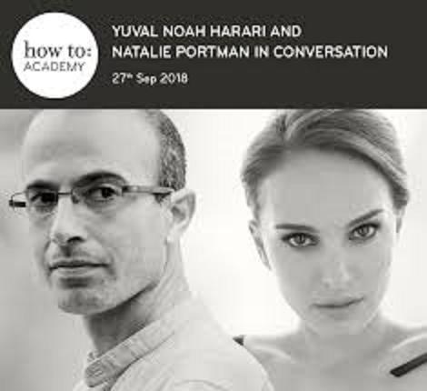 ユヴァ・ハラリとナタリーの対談のポスター