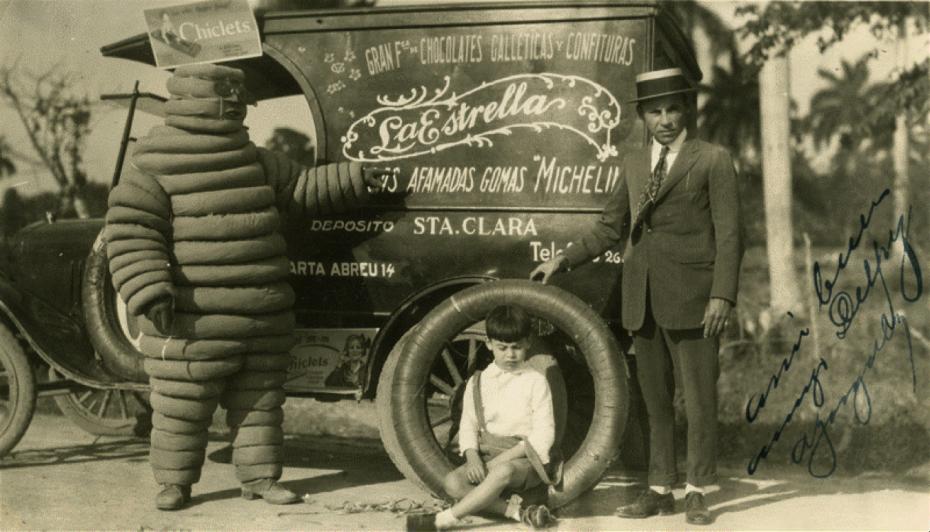 昔のミシュランタイヤの広告