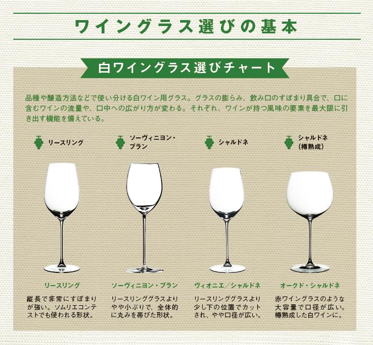白ワイングラスの選び方をまとめた図