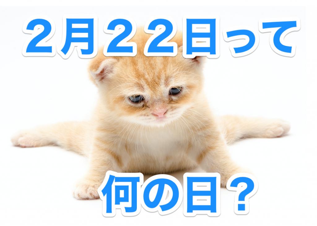 ネコが出ている222のポスター