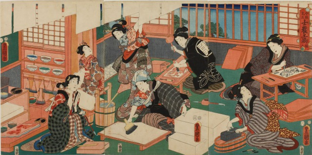 分業体制で浮世絵を製作する人たち