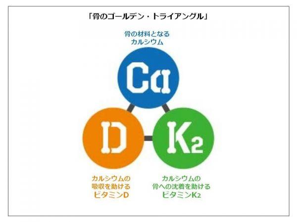 カルシウム ビタミンD ビタミンKの重要性を示す図