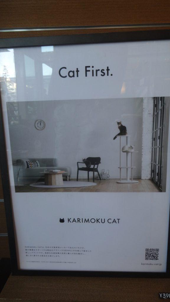 Cat Firstと書かれたポスター