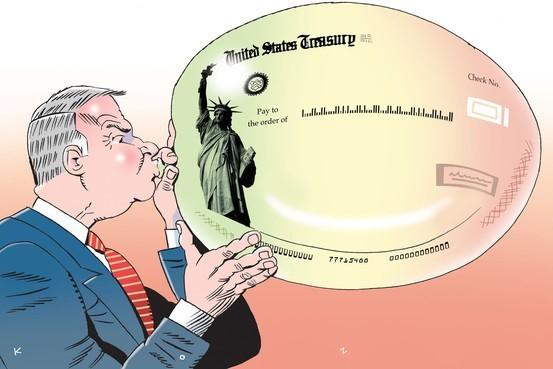 金融関係者が膨らませるバブル風船