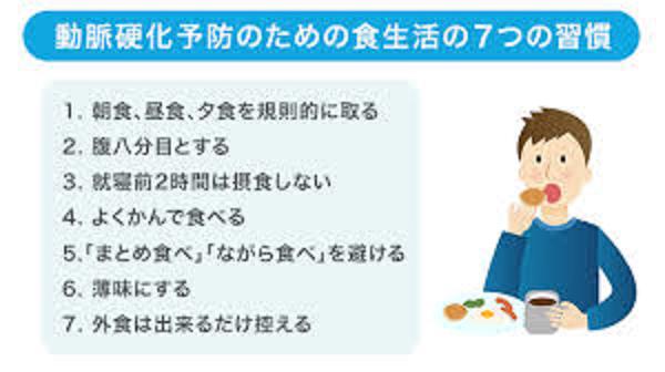 動脈硬化を予防するための食習慣