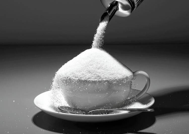 砂糖が沢山入ったコーヒー