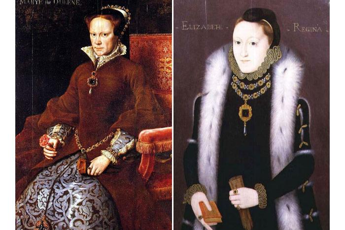 メアリーとエリザベスの肖像画