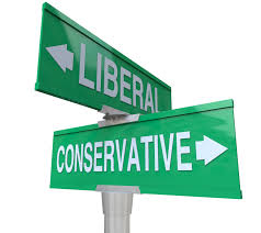 リベラルとコンサバの標識