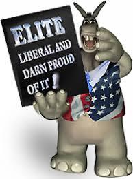 リベラル信仰の独善的なエリート主義を非難するポスター