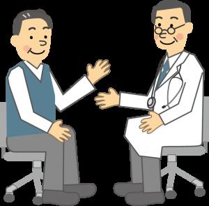 健診結果について医師に相談している人