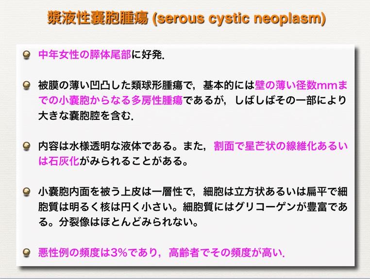 漿液性のう胞腫瘍の説明図