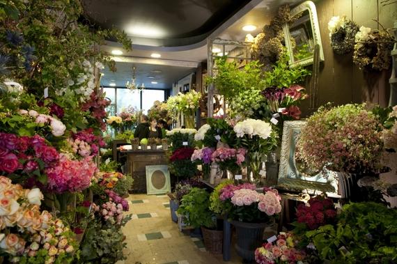 モンパルナスの花屋の店内の様子