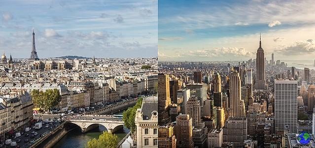 パリ・ニューヨークの街並み