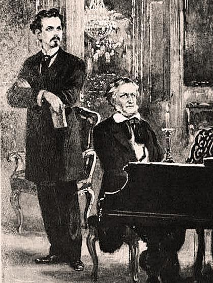 語りあうルートヴィヒ2世とワーグナー
