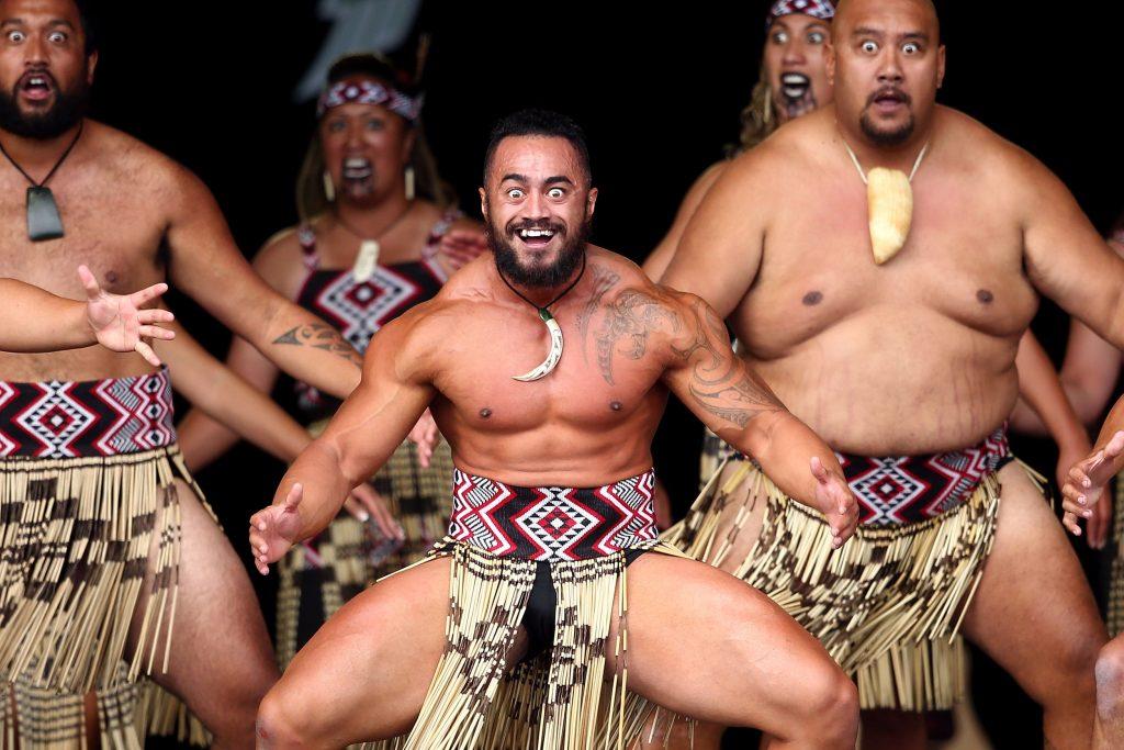 マオリ族のハカの様子