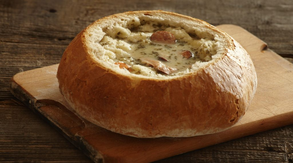 ライ麦サワースープ・ジュレックの写真
