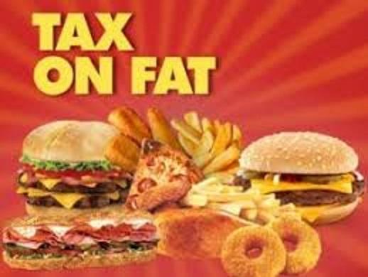 ハンバーガーへの課税を示すポスター