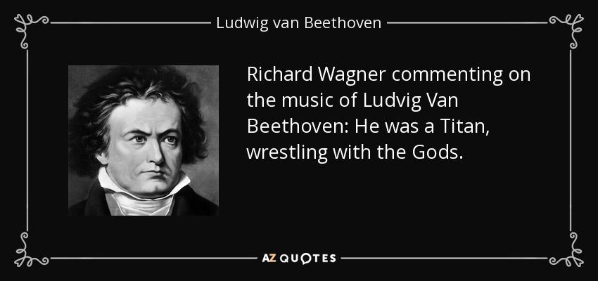 ワーグナーが書いたベートーベンへの賛辞が記されたカード