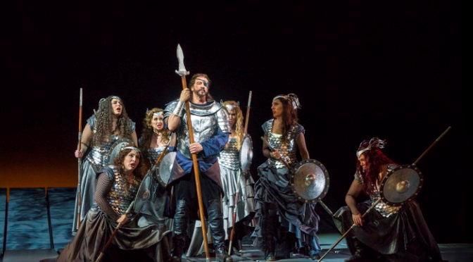ワーグナーのオペラの舞台の様子