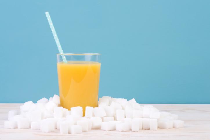 砂糖入り飲料の写真