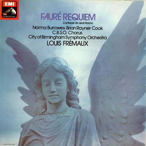 天使が描かれたフォーレのレクイエムのCDジャケットの写真