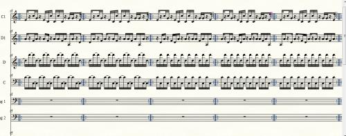 ミニマル・ミュージックの楽譜