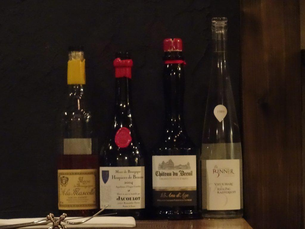 食後酒のボトルの写真