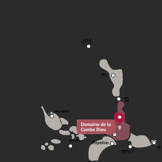 ラ・コンブの位置を示す地図