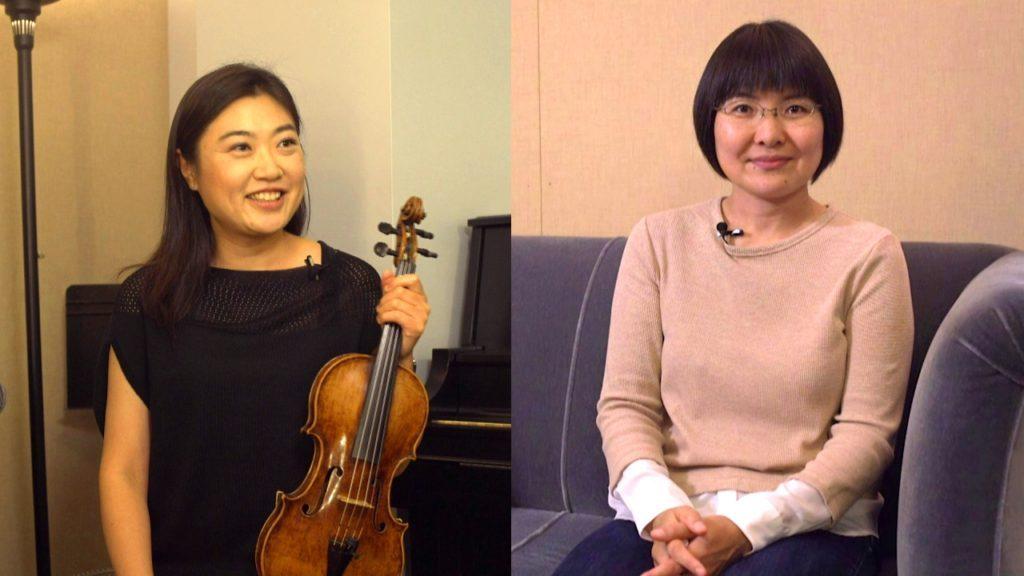 インタビューに答えるシカゴフィルの日本人ヴァイオリニスト