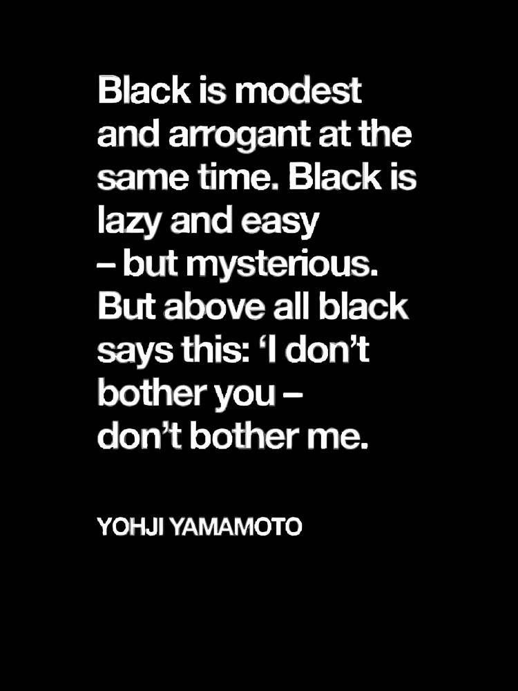 耀司さんが 黒について書かれた文章