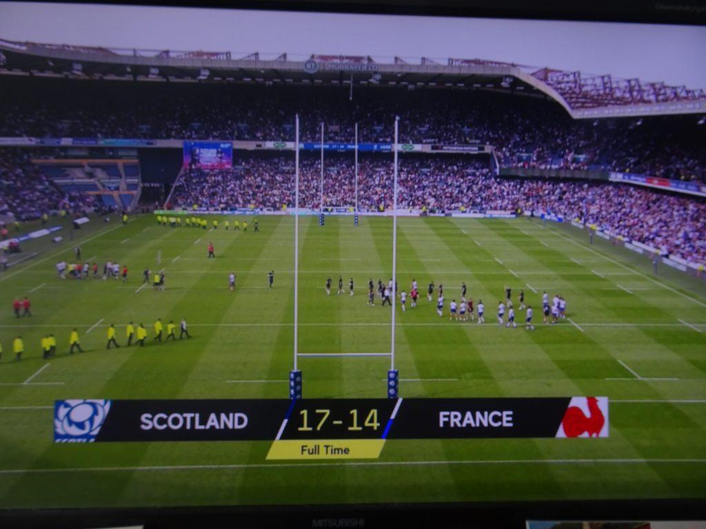スコットランドvsフランスの試合結果を示す写真