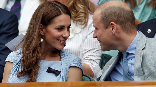 観戦するウイリアム王子とセーラ妃
