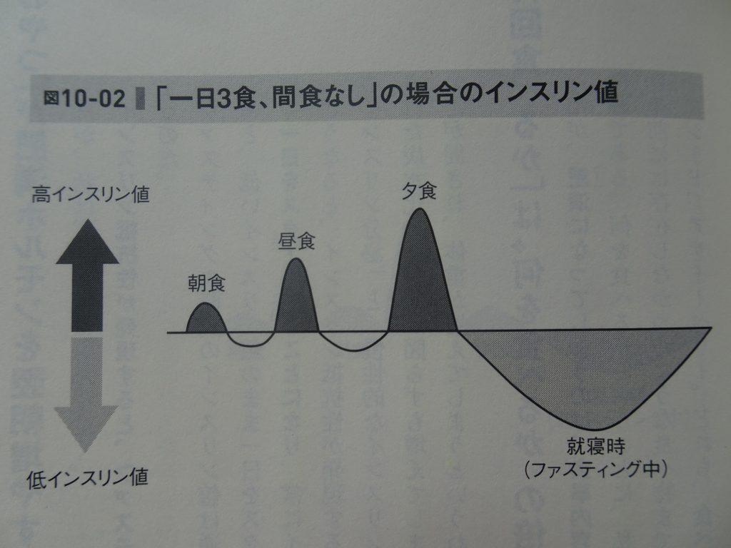 間食とインスリン分泌の関係を示す図2