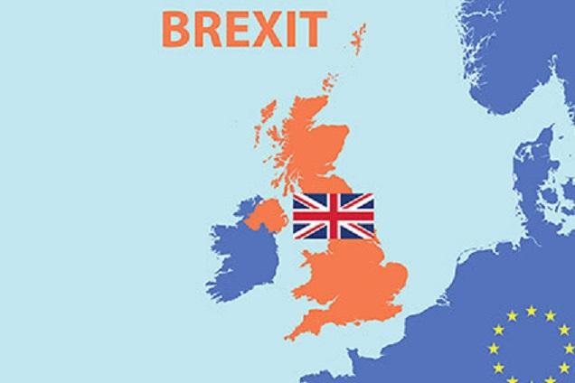 ブレクジットとアイルランドの国境の関連を説明する図