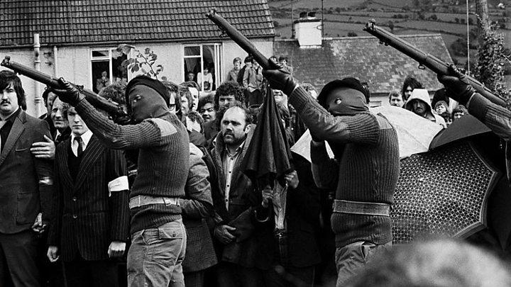 IRAの爆弾テロの様子