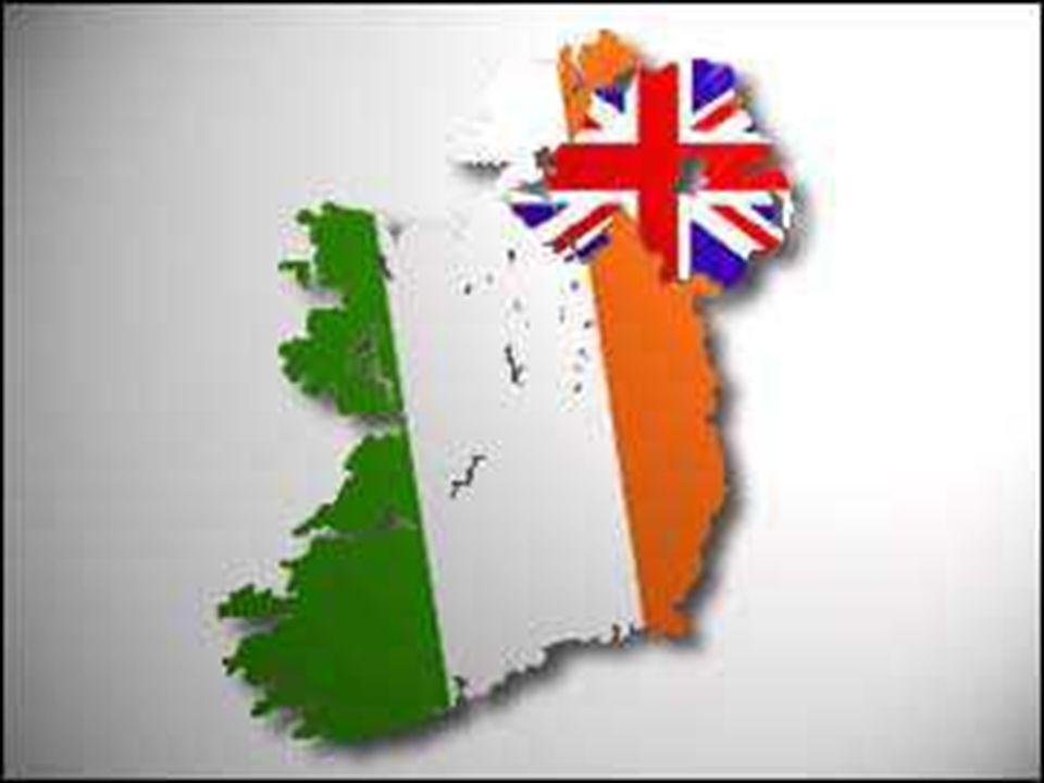 北アイルランドとアイルランド共和国の国境線を示す地図