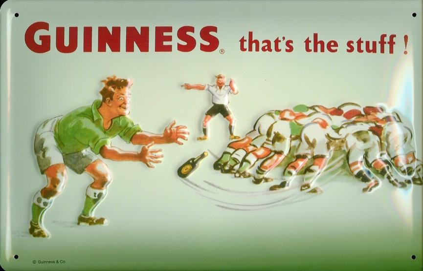ギネスビールのラグビーをモチーフにした広告