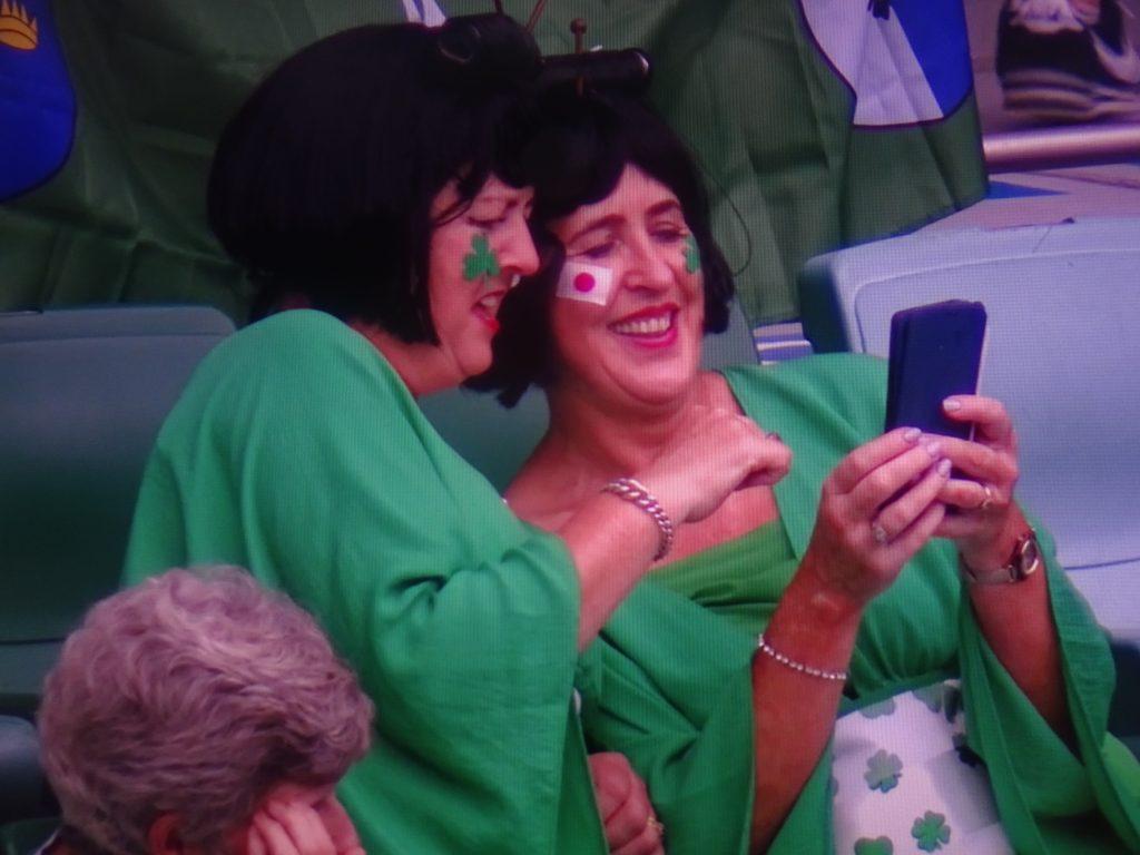 試合開始前のアイルランドサポーターたち