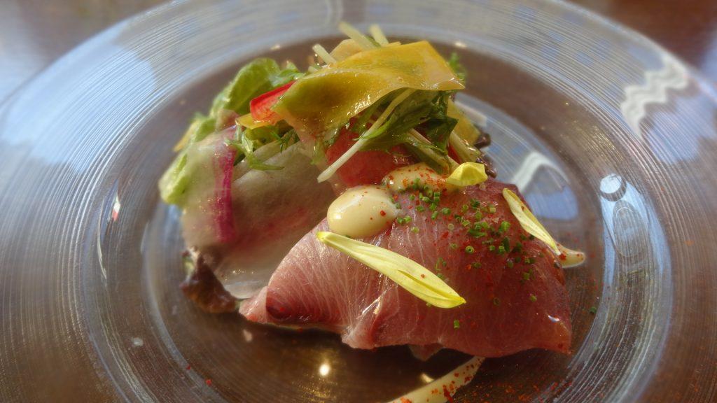 旬のお魚のカルパッチョ