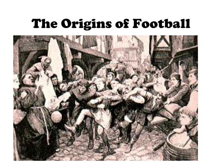 フットボールの起源が書かれた絵
