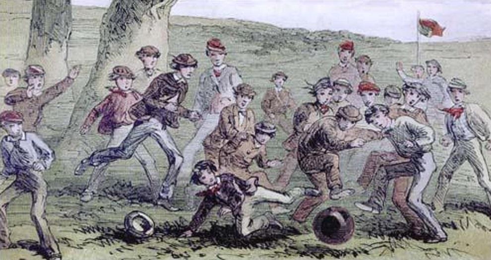 サッカーの起源が書かれた絵